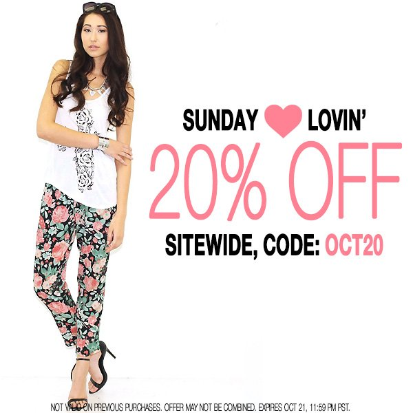 We're showing the love with 20% off sitewide. Use code OCT20.