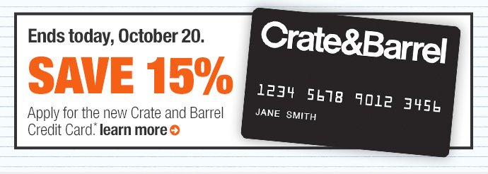 Ends today, October 20. save 15%