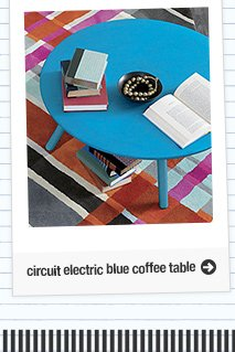 circuit electric blue coffee table