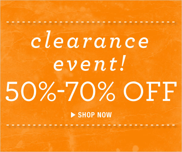 Clearance Event: 50-70% off