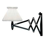 Le Klint 324 Sax Lamp, plastic shade, wood, Black