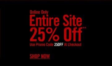 ONLINE ONLY - ENTIRE SITE 25% OFF** - SHOP NOW