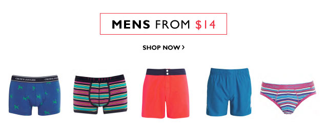 SHOP MENS FROM $14