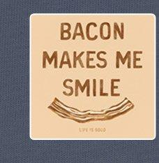 Men's Tee - Bacon Makes Me Smile