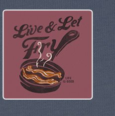 Men's Bacon Tee - Live and Let Fry