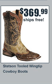 Stetson Wing Tip Boots