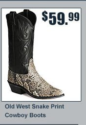 Old West Snake Print Boots