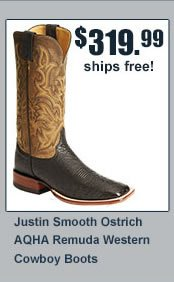 Justin Smooth Ostrich Boots