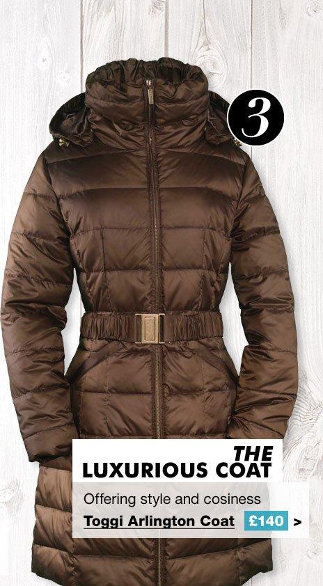 Toggi Arlington Down Coat £140 (Earn 700 Rider Reward points worth £7)