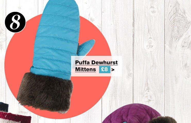 Puffa Dewhurst Mittens £8 (Earn 40 Rider Reward points worth 40p)