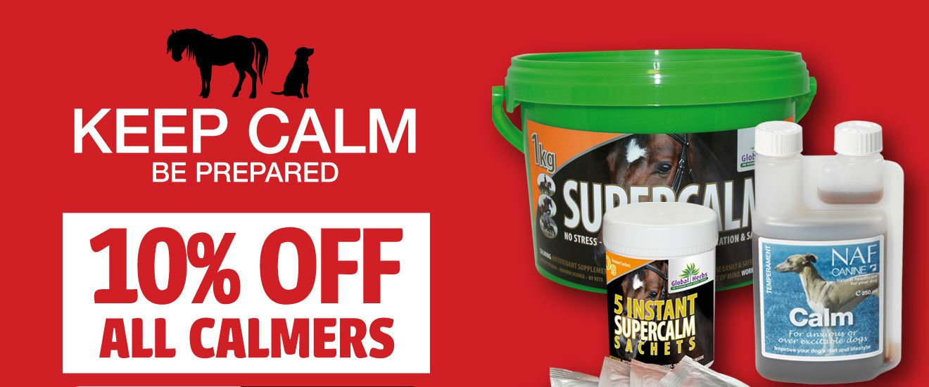 10% OFF All Horse and Dog Calmers