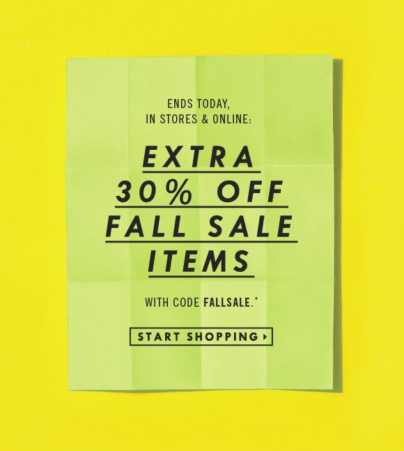 Extra 30% Off Fall Sale Items
