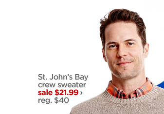 St. John's Bay crew sweater sale $21.99 › reg. $40