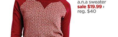 a.n.a. sweater sale $19.99 › reg. $40