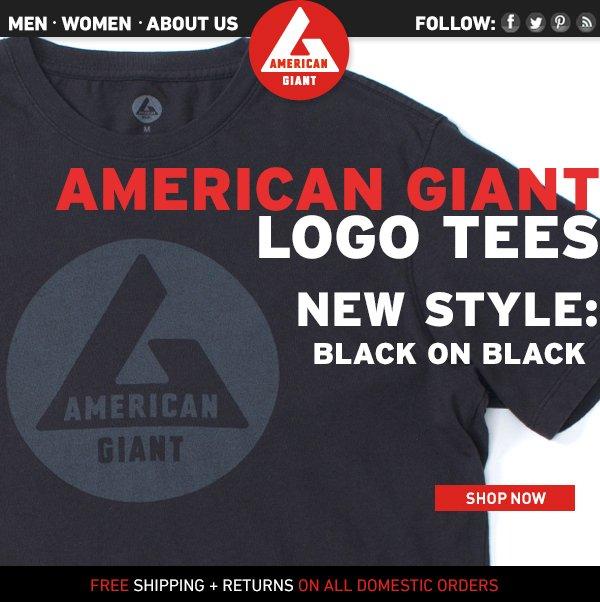 Logo Tees! New Style: Black on Black!