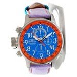 Invicta 12076 Men's I-Force Lefty Blue Dial Purple Fabric & Leather Strap Chronograph Watch