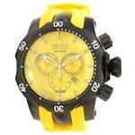 Invicta 11968 Men's Reserve Venom Yellow Dial Gunmetal IP Steel Yellow Rubber Strap Chronograph Dive Watch