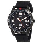 Timex T2N694 Men's Style Sport Black Ion Plated Indiglo Night Light Black Dial Watch
