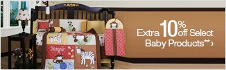 Extra 10% off Select Baby Products**