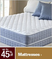 Up to 45% off Mattresses