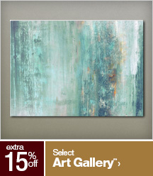 Extra 15% off Select Art Gallery**