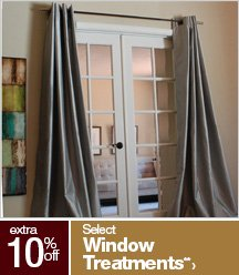 Extra 10% off Select Window Treatments**