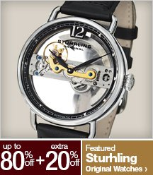 Up to 80% off + Extra 20% off Featured Sturhling Original Watches