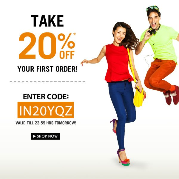 Take 20% off your first order!