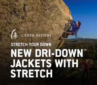 Stretch Dri-Down Jackets & Sleeping Bags