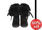 Fleeced-Line Fold-Over Boots