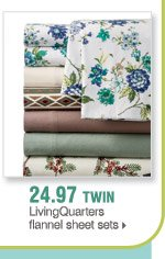 24.97 Twin LivingQuarters flannel sheet sets