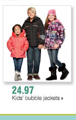 24.97 Kids' bubble jackets
