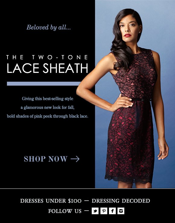 The Two-Tone Lace Sheath