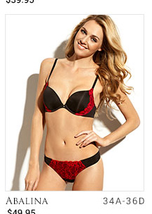 Abalina lingerie set - sizes 34A-36D - 49.95 dollars