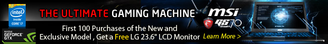 """the ultimate gaming machine. first 100 purchases of the new and exclusive model, get a lg 23.6"""" lcd monitor. learn more."""