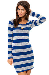 The Varsity Striped Dress in Blue