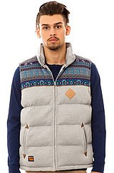 The Jacquard Mix Vest in Heather Grey