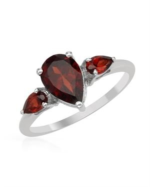 Sterling Silver Ring with 1.83 CTW Garnets