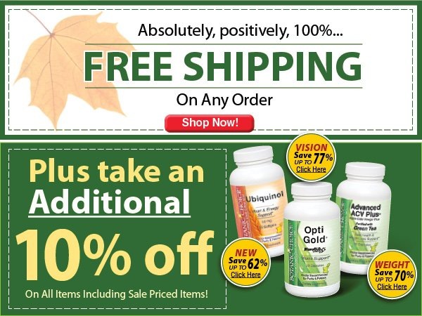 FREE shipping and save an additional 10% off
