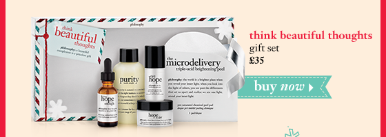 think beautiful thoughts gift set £35 buy now