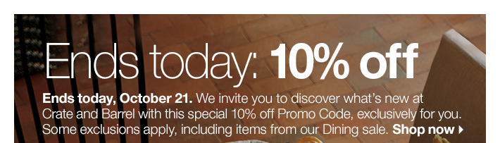 Just for you: 10% off