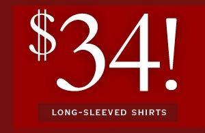 $34 Long-Sleeved Shirts