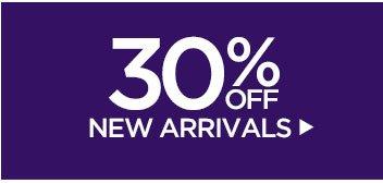 30% off New Arrivals