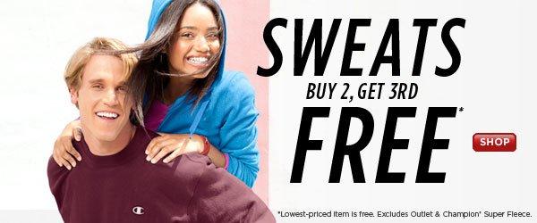 SHOP Sweats Buy 2, Get 3rd Free
