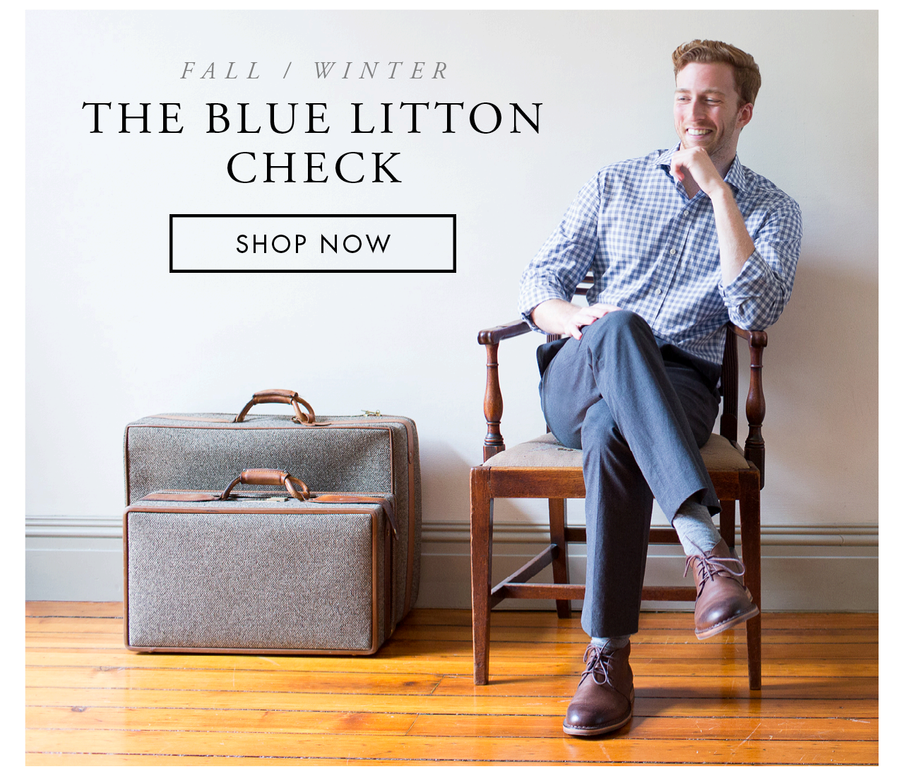 The Blue Litton Check