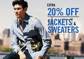 Shop EXTRA 20% Off: Jackets & Sweaters