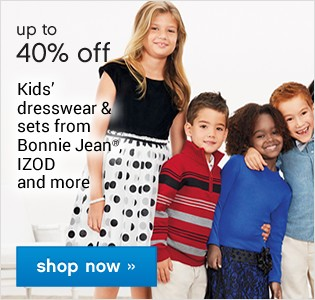 Up to 40% off Kids Dresswear and sets. Shop now.