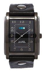 Gunmetal-Black Square Oversize Watch