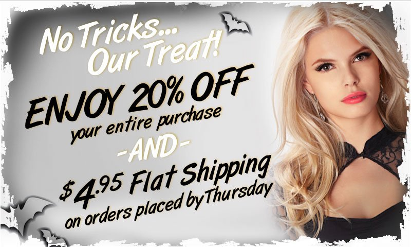 Starts Now! Extra 20% off everything! Plus, Shipping is just $4.95 - TRY VENUS NOW!