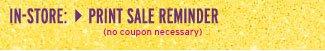 Sale reminder